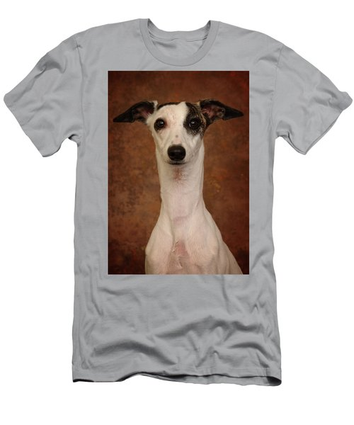 Men's T-Shirt (Slim Fit) featuring the photograph Young Whippet by Greg Mimbs