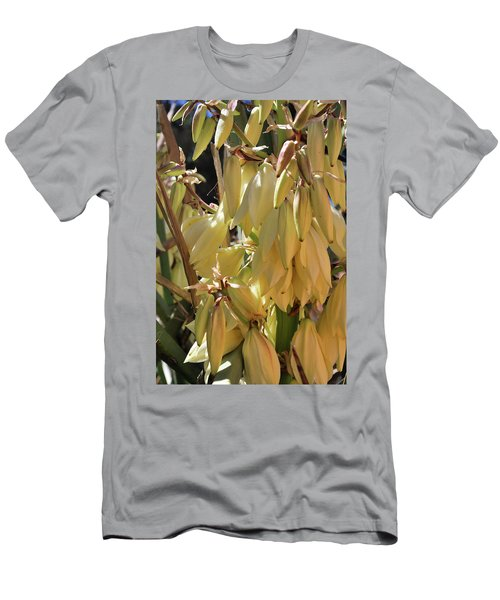 Men's T-Shirt (Athletic Fit) featuring the photograph Yucca Bloom II by Ron Cline