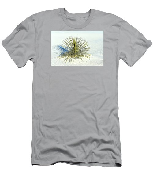 Yucca In White Sand Men's T-Shirt (Slim Fit) by Jerry Cahill