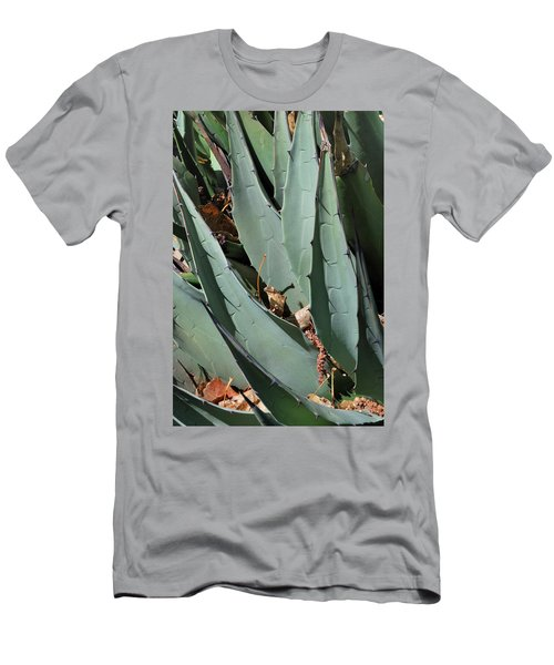 Men's T-Shirt (Athletic Fit) featuring the photograph Yucca Leaves by Ron Cline