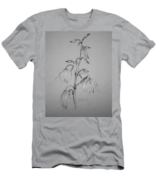 Men's T-Shirt (Slim Fit) featuring the drawing Yucca by Marna Edwards Flavell