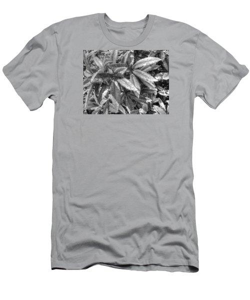 Men's T-Shirt (Slim Fit) featuring the pyrography Yury Bashkin Black Green by Yury Bashkin