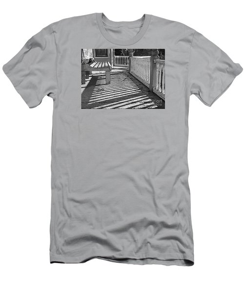 Men's T-Shirt (Slim Fit) featuring the photograph Zebra Porch by Betsy Zimmerli
