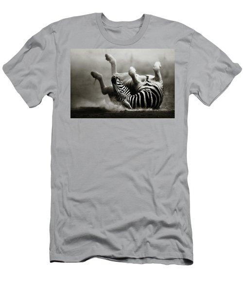 Zebra Rolling Men's T-Shirt (Athletic Fit)