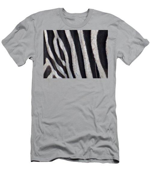 Zebra Skin Closeup Men's T-Shirt (Athletic Fit)