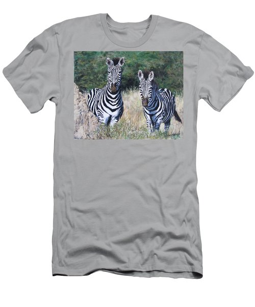 Zebras In South Africa Men's T-Shirt (Athletic Fit)