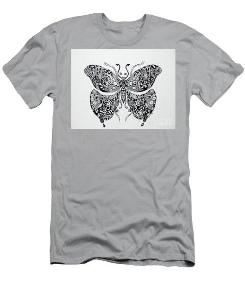 Zen Butterfly Men's T-Shirt (Slim Fit) by Tamyra Crossley