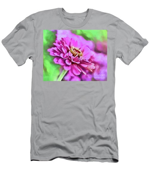 Zinnia Art 2 Men's T-Shirt (Athletic Fit)