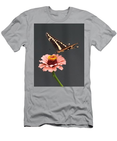 Zinnia With Butterfly 2702 Men's T-Shirt (Athletic Fit)