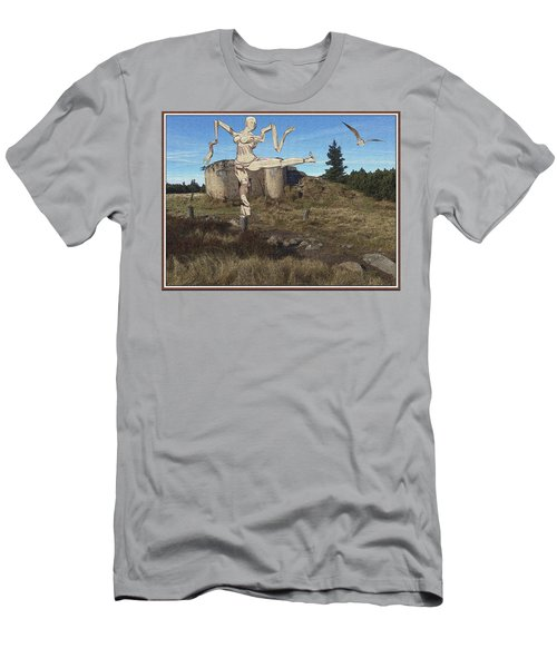 Zombie Near The Ruins Men's T-Shirt (Athletic Fit)