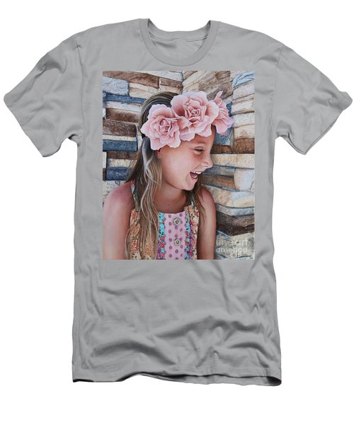 Men's T-Shirt (Slim Fit) featuring the painting Zuri Painting by Mike Ivey