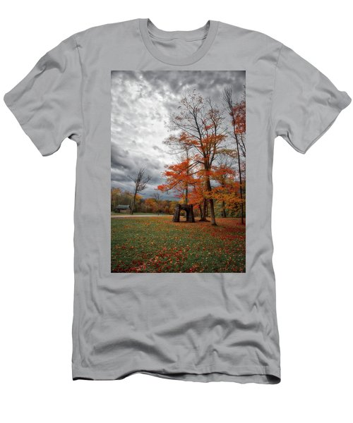 Men's T-Shirt (Athletic Fit) featuring the photograph An Autumn Day At Chestnut Ridge Park by Guy Whiteley