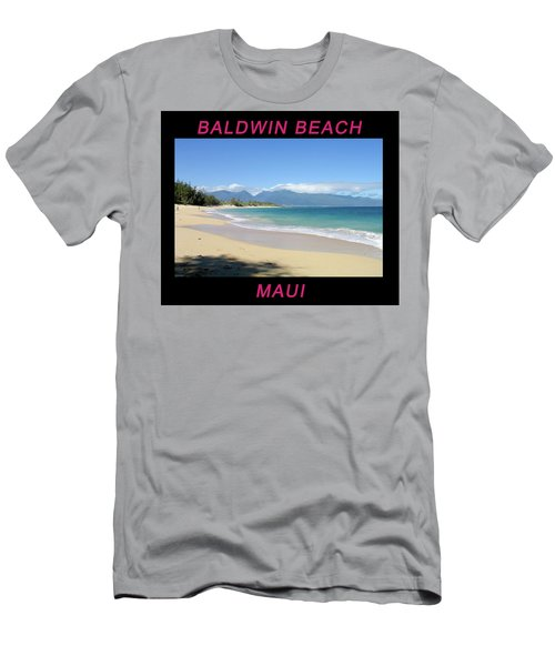Men's T-Shirt (Athletic Fit) featuring the photograph Baldwin Beach Maui by Frank DiMarco
