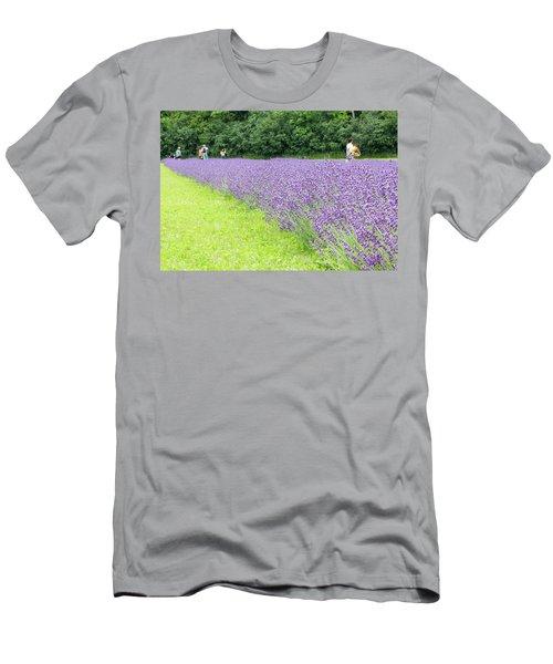 Blue Lavender Men's T-Shirt (Athletic Fit)