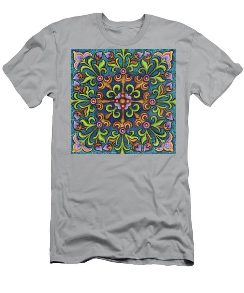 Botanical Mandala 8 Men's T-Shirt (Athletic Fit)