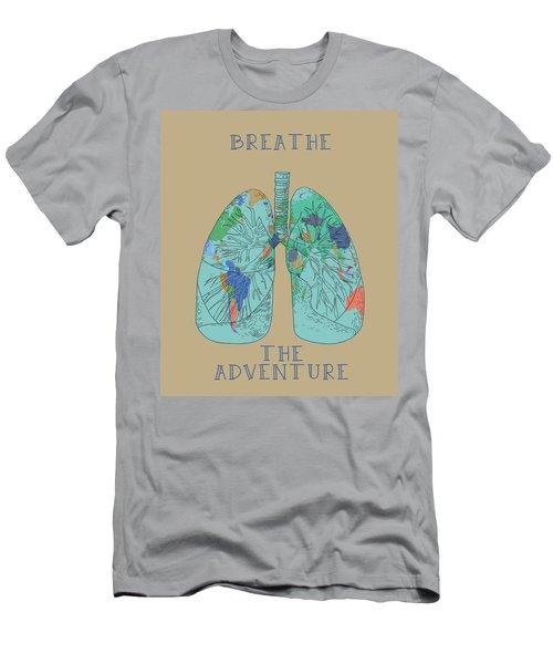 Breathe The Adventure Men's T-Shirt (Athletic Fit)