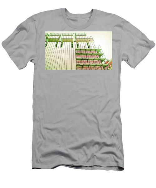 Building Facade Of The 60s During Renovations. Brescia, Italy. Men's T-Shirt (Athletic Fit)