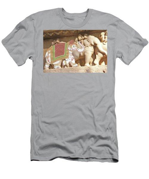 Caparisoned Elephants  Men's T-Shirt (Athletic Fit)