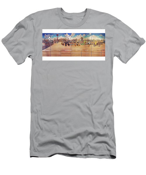 Coney Island Boardwalk Towel Version Men's T-Shirt (Athletic Fit)