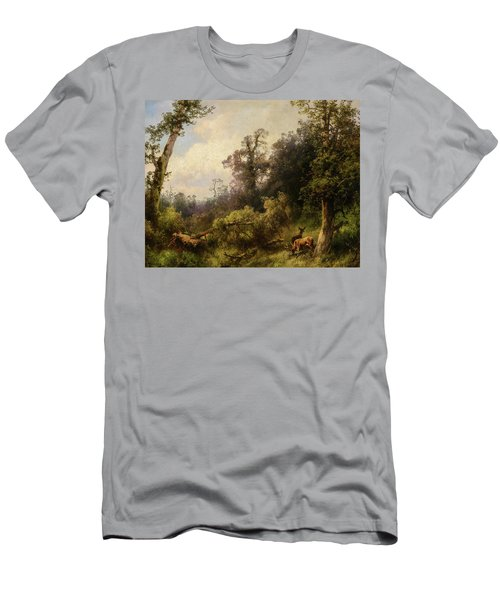 Deer In The Forest Men's T-Shirt (Athletic Fit)