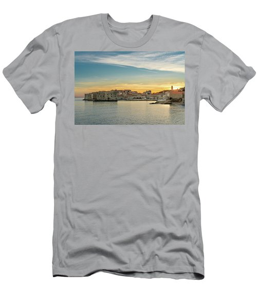 Dubrovnik Old Town At Sunset Men's T-Shirt (Athletic Fit)
