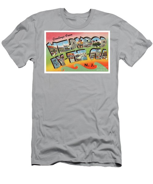 Men's T-Shirt (Athletic Fit) featuring the photograph Wildwood Greetings - Version 3 by Mark Miller