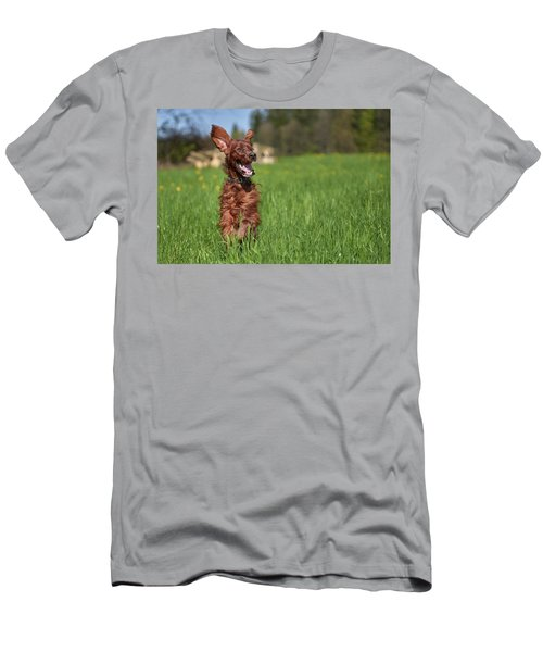 Happy Setter Men's T-Shirt (Athletic Fit)