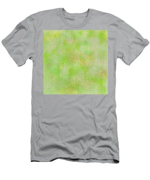 Lime Batik Print Men's T-Shirt (Athletic Fit)