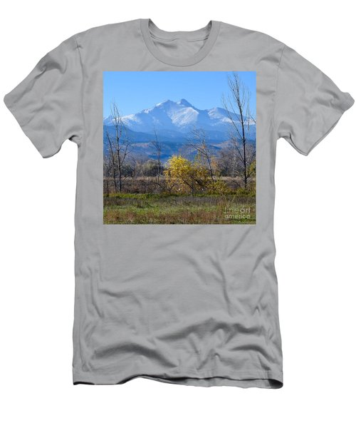 Longs Peak In The Fall  Men's T-Shirt (Athletic Fit)