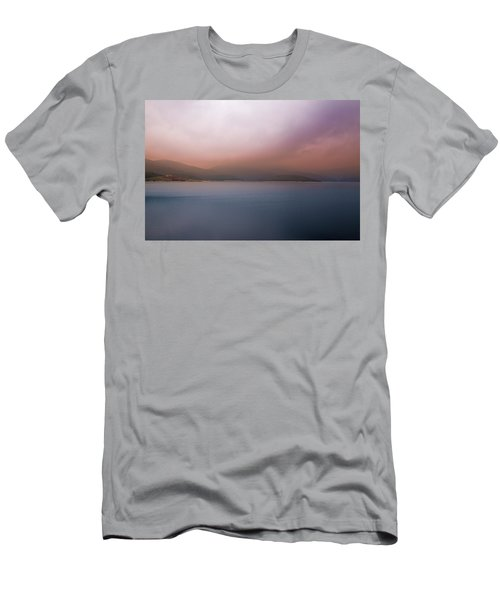 Men's T-Shirt (Athletic Fit) featuring the photograph Misty Afternoon by Milena Ilieva