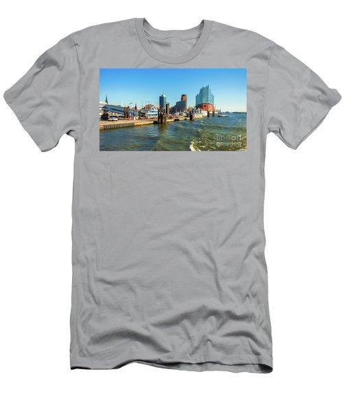 Panoramic View Of Hamburg. Men's T-Shirt (Athletic Fit)