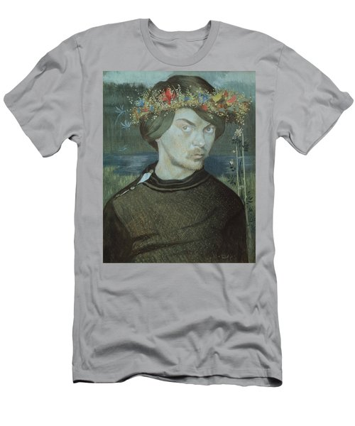 Men's T-Shirt (Athletic Fit) featuring the drawing Self-portrait by Ivar Arosenius