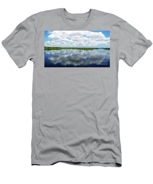 Skyscape Reflections Blue Cypress Marsh Near Vero Beach Florida C6 Men's T-Shirt (Athletic Fit)