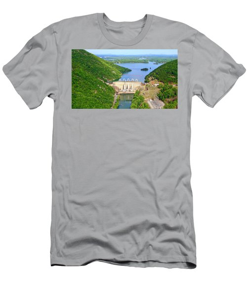 Smith Mountain Lake Dam Men's T-Shirt (Athletic Fit)