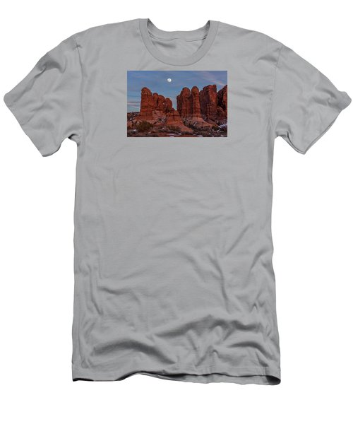 Super Moonrise At Garden Of Eden Men's T-Shirt (Athletic Fit)