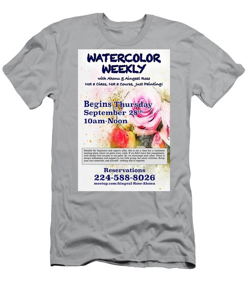 Watercolor Weekly Men's T-Shirt (Athletic Fit)