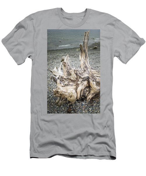 Men's T-Shirt (Athletic Fit) featuring the photograph Wood Log In Nature No.35 by Juan Contreras