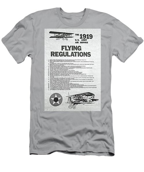 1919 Flying Regulations Poster Men's T-Shirt (Athletic Fit)