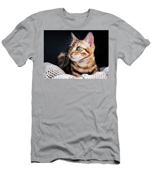 Bengal Cat Portrait Men's T-Shirt (Athletic Fit)
