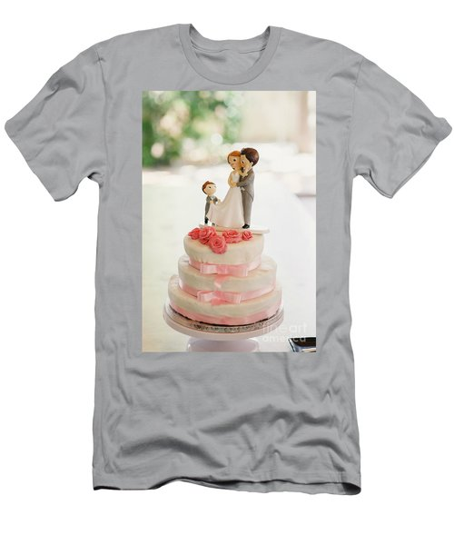 Desserts And Wedding Cake With Very Sweet Cupcakes At An Event. Men's T-Shirt (Athletic Fit)
