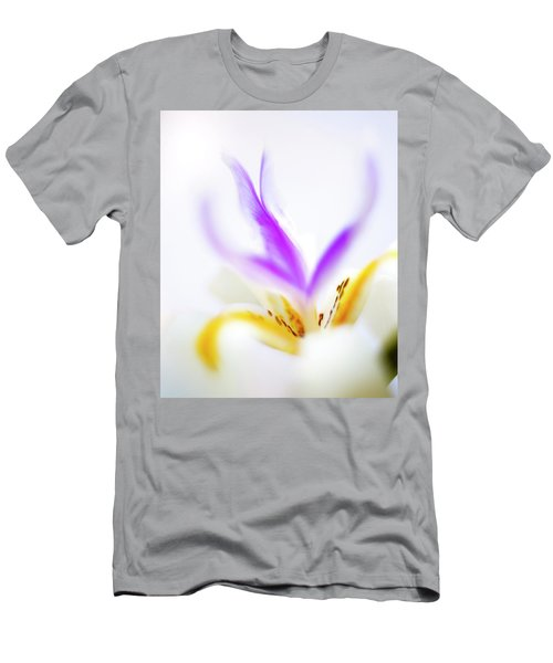 Men's T-Shirt (Athletic Fit) featuring the photograph White Iris II by John Rodrigues
