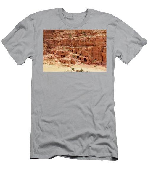 Petra, Jordan - Cave Dwellings Men's T-Shirt (Athletic Fit)