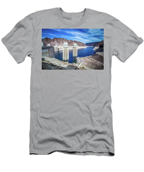 Men's T-Shirt (Athletic Fit) featuring the photograph Wandering Around Hoover Dam On Lake Mead In Nevada And Arizona by Alex Grichenko