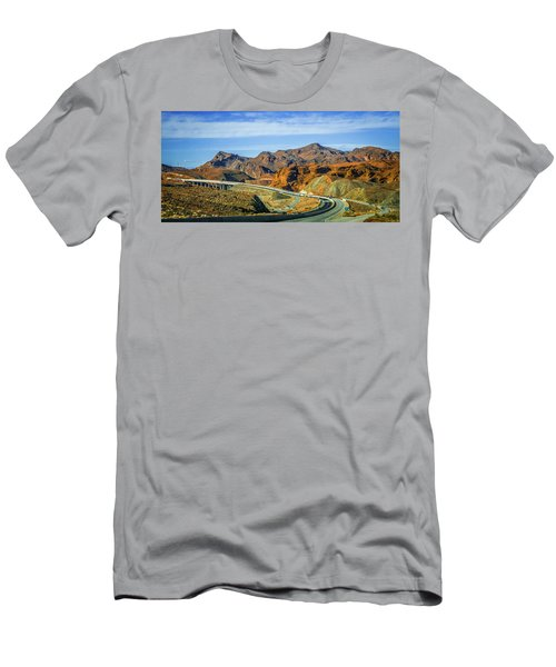 Men's T-Shirt (Athletic Fit) featuring the photograph Red Rock Canyon Landscape Near Las Vegas Nevada by Alex Grichenko