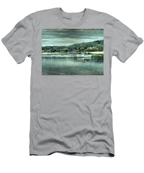 Boats At Northport Harbor Men's T-Shirt (Athletic Fit)