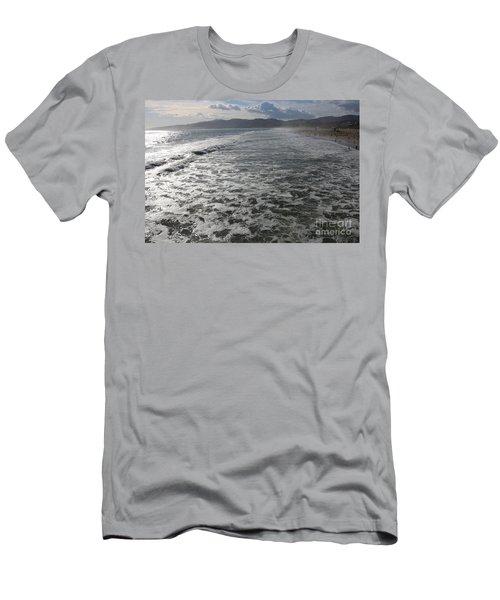 Santa Monica Beach, Santa Monica, California Men's T-Shirt (Athletic Fit)