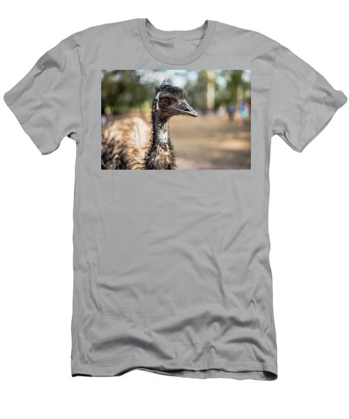 Men's T-Shirt (Athletic Fit) featuring the photograph Emu By Itself Outdoors During The Daytime by Rob D Imagery