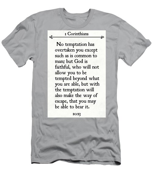 1 Corinthians 10 13- Inspirational Quotes Wall Art Collection Men's T-Shirt (Athletic Fit)