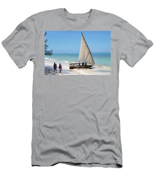 A Dhow In Zanzibar Men's T-Shirt (Athletic Fit)
