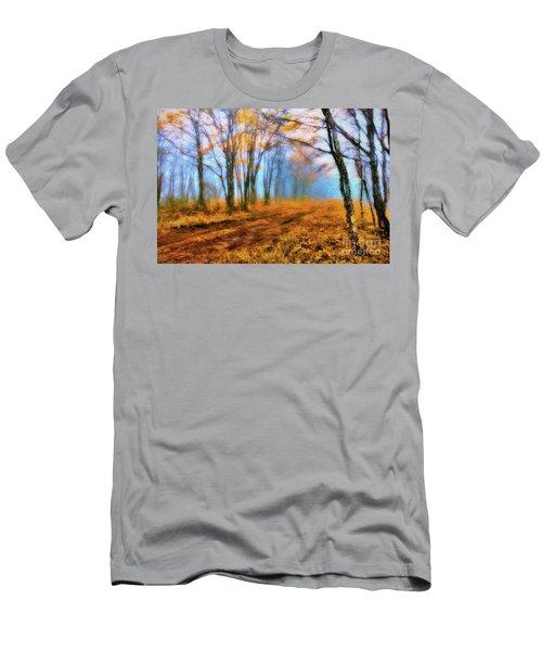 A Foggy Autumn Blue Ridge Morning Ap Men's T-Shirt (Athletic Fit)